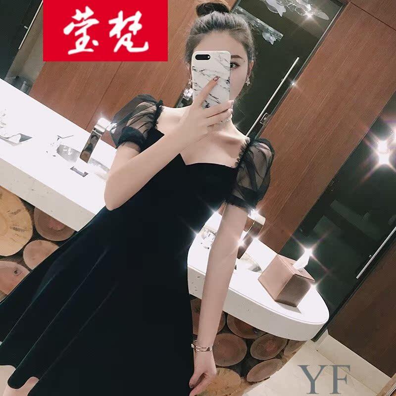 ��梵�I�旗�店季蓓 春夏�b2018新款女�赓|女神范衣服�t色ins超火
