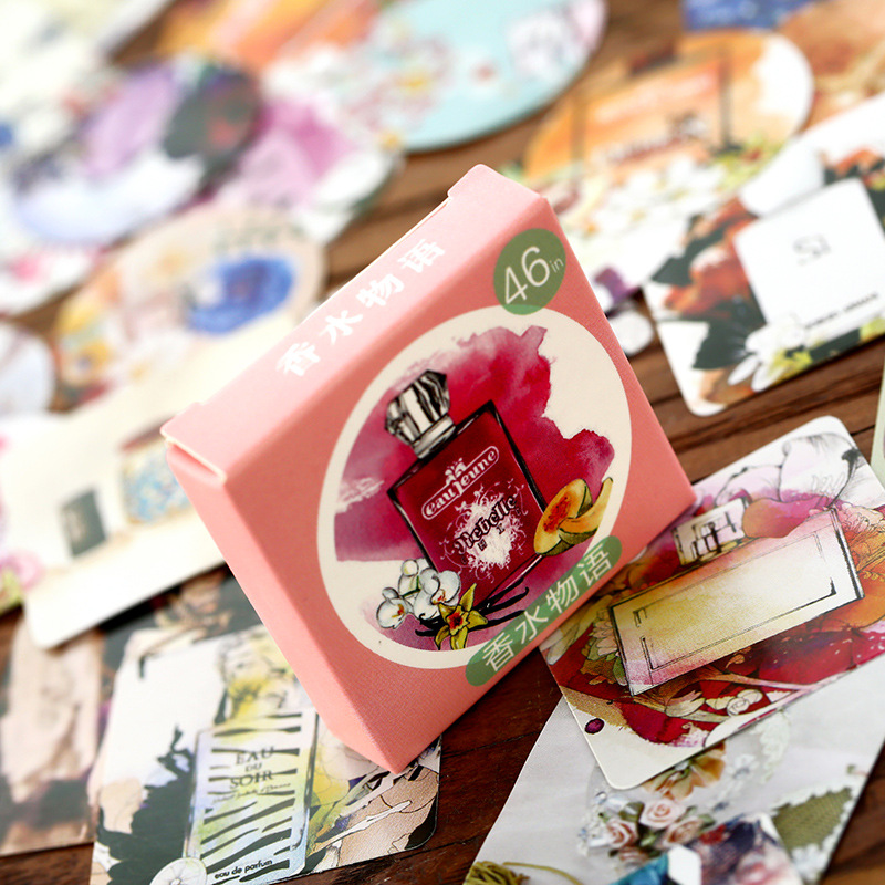 With Japanese style and perfume stickers DIY Khaled boxed ha