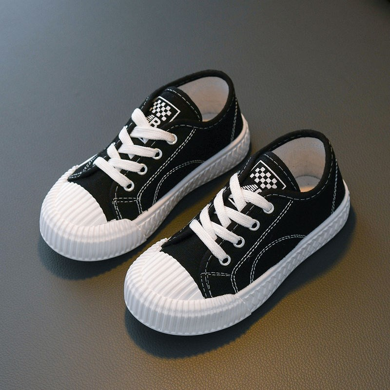 Biscuit single shoe boys casual shoes girls baby canvas shoes board shoes childrens shoes low top cloth shoes rest