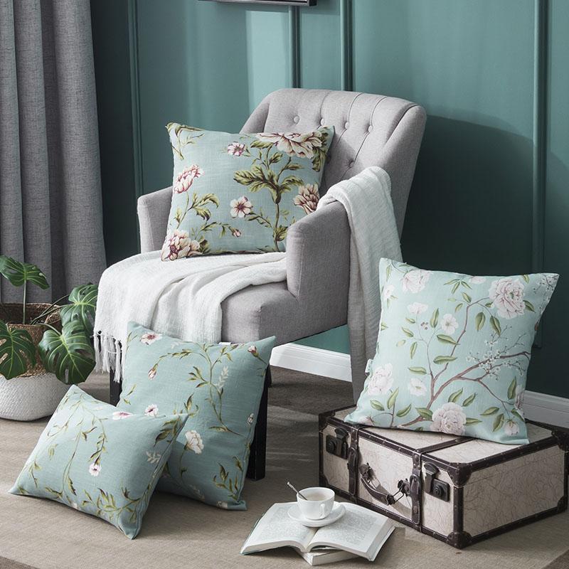 北欧亚麻枕头抱枕皮靠垫套客厅沙发靠枕套45X45不含芯正方形30*50热销25件不包邮