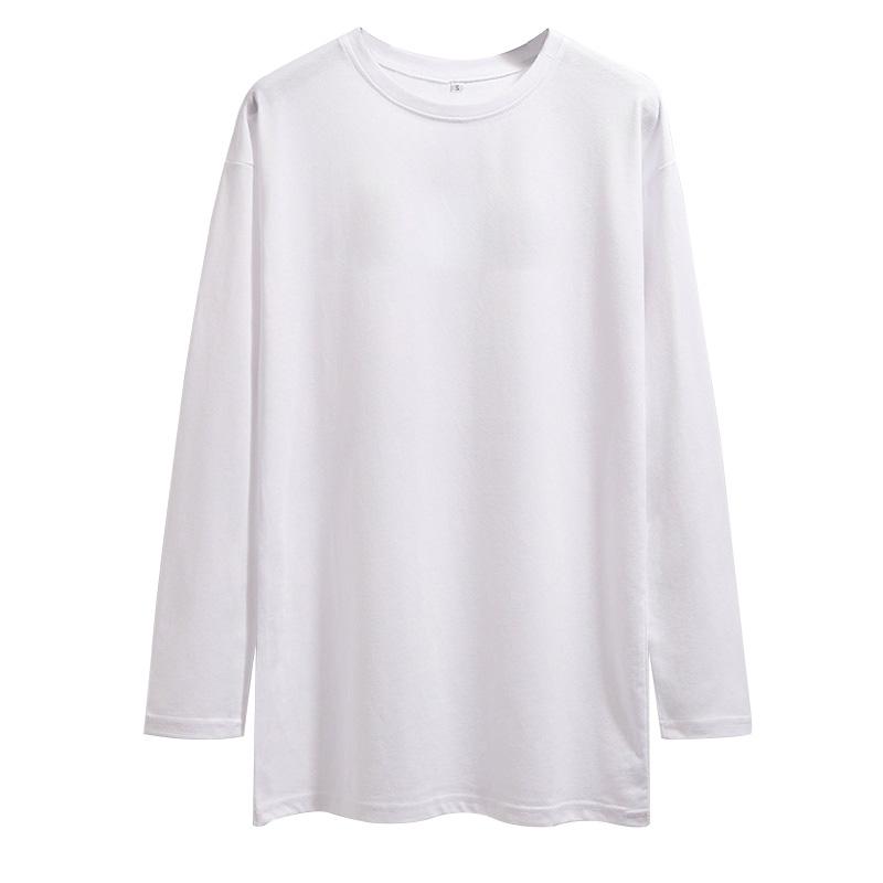 中长款纯棉白色圆领t恤内搭卫衣质量好不好