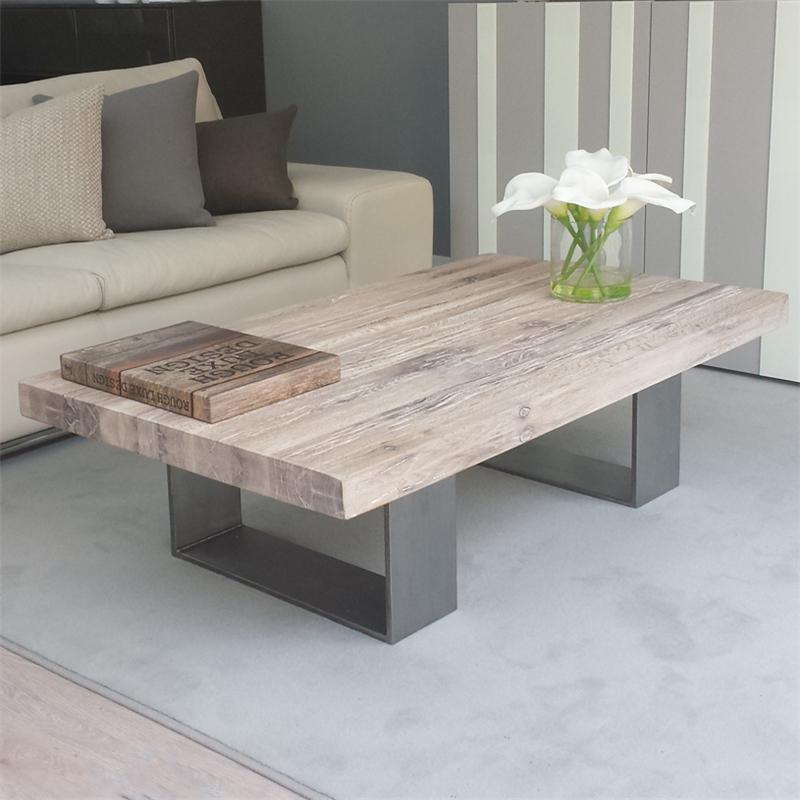 美式茶几实木铁艺茶台复古方形沙发茶几客厅创意咖啡桌简约泡茶桌