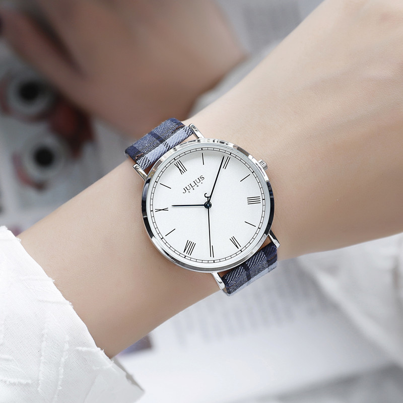 Authentic Curie watch womens new fashion trend big dial waterproof watch casual canvas womens watch quartz watch