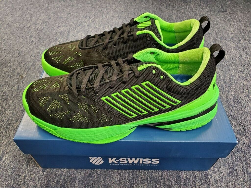 Buy K-Swiss knitshot green black mens tennis shoes 05397398m comfortable and wear-resistant