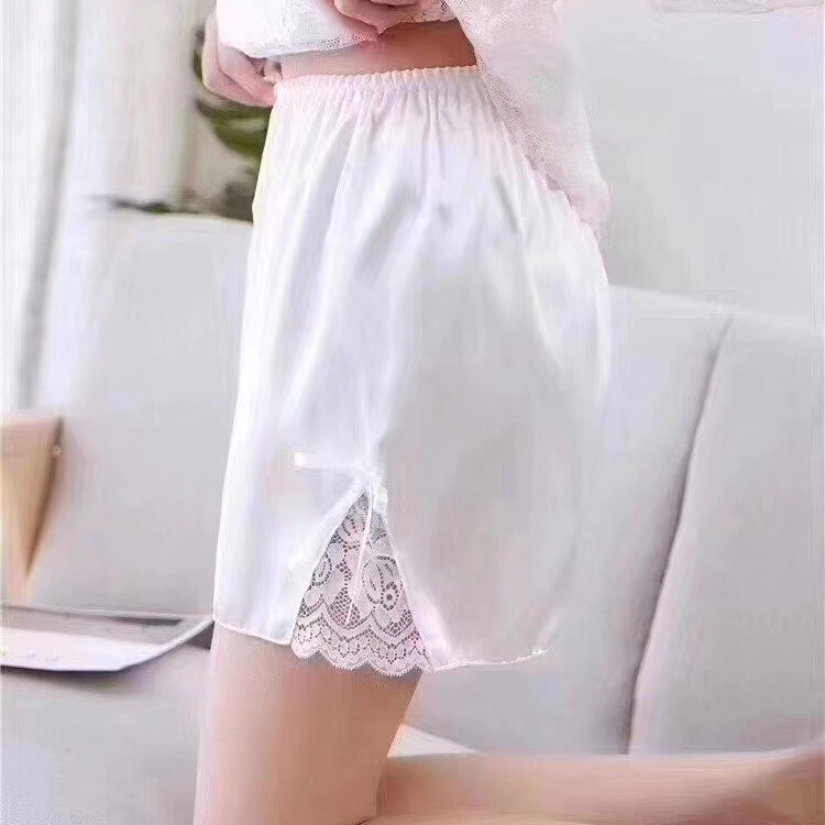 Silk fabric new polyester 2021 summer regular Pants White Leggings outer pants safety pants 8059