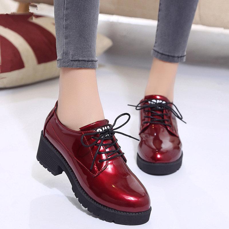 秋款黑色小皮鞋女秋季英伦风夏天韩版百搭单鞋2020新款潮鞋小红鞋