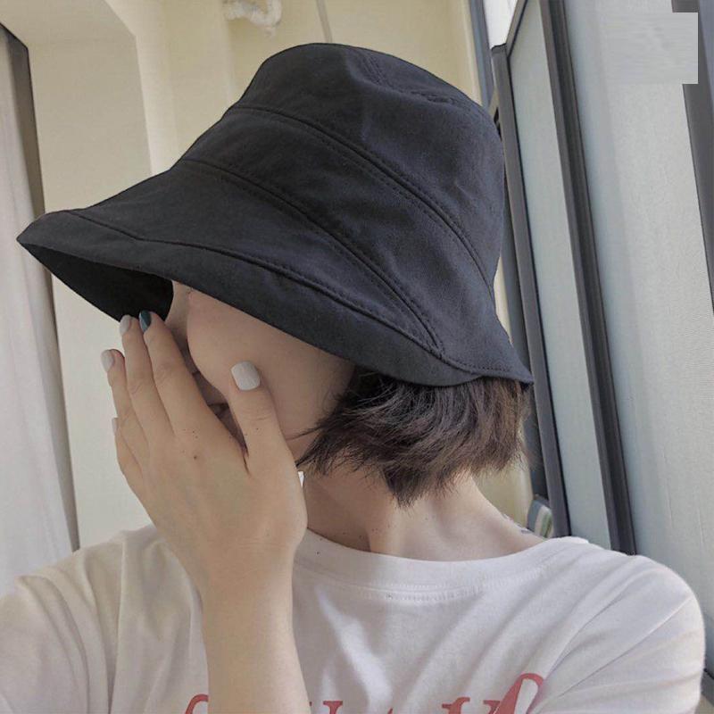 日本新款四季款遮阳渔夫帽女布帽10-24新券