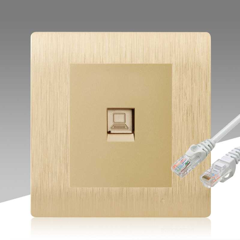电脑插头插座墙上网口专用控制墙上一位千兆网线网络工具面板宽带