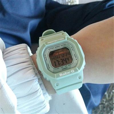 卡西欧 BLX-560-1/2/3/7嫩绿小方块潮汐运动女表小方块BABY-G学生