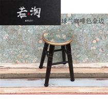 客厅熟胶吃饭单个加厚休闲大排档塑料凳子创意户外高凳胶椅子家用