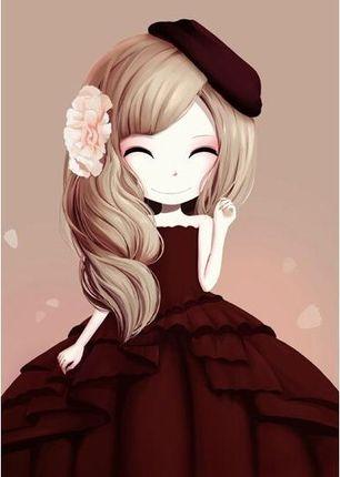 套件皇家KS儿童十字绣线绣新款小幅 简单绣新手卧室可爱木槿姑娘3