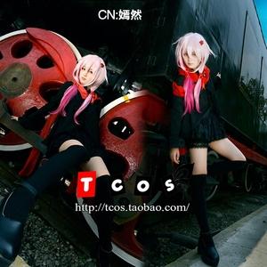 TCOS 罪恶王冠 楪祈cos 罪恶皇冠 黑色唱片封面洋装 动漫cos服