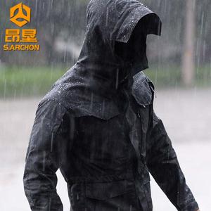 战术冲锋衣男秋冬迷彩外套户外服装防风防水登山服加绒三合一套装