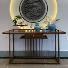新中式玄关桌子靠墙禅意条案全实木仿古供桌条几轻奢端景台玄关柜
