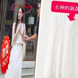 上新2020韩式时装一仆二主闫妮江疏影明星同款女装百搭连衣裙长裙