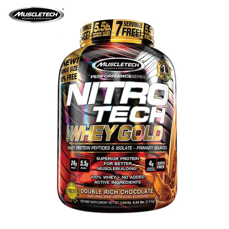 Muscletech肌肉科技正氮金装乳清蛋白粉 健身增健肌粉重5.5磅美国,可领取80元天猫优惠券
