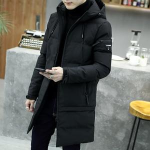 棉衣男冬季中长款潮流修身韩版新款反季加厚外套羽绒棉服长款男装