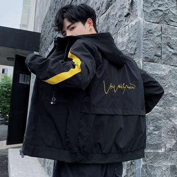 工装男士2020春秋季新款韩版风衣