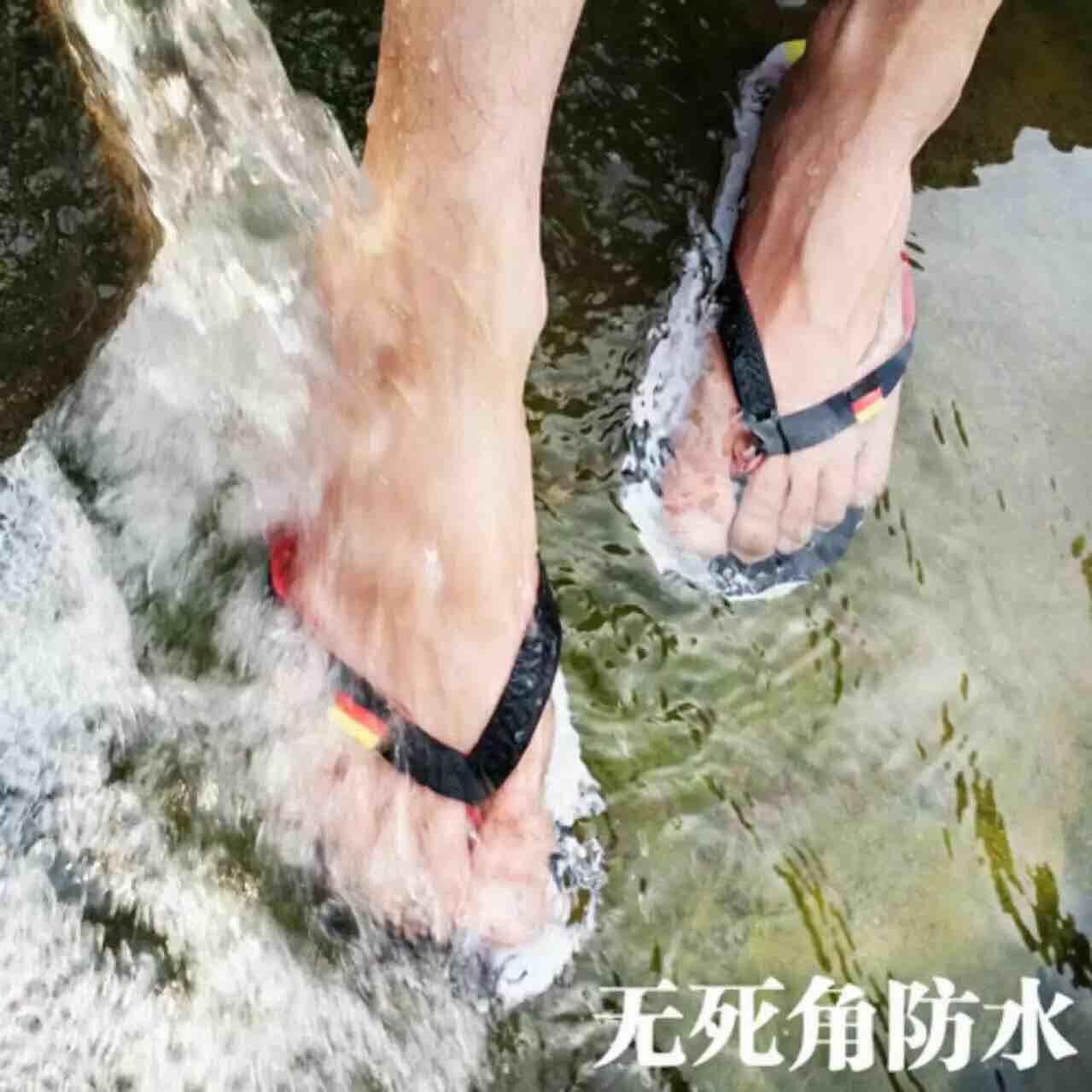 2016S244世界杯凉拖鞋厚底足球夹脚运动沙滩国旗潮夏季人字拖男