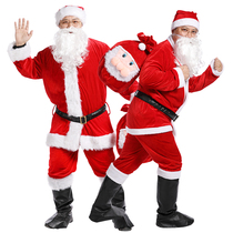 Christmas old man thickened clothing adult clothes mens clothing hairy short hair Santa dress suit
