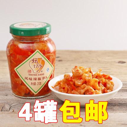 湖南特产坛坛乡风味辣椒萝卜 坛坛香萝卜干小菜下饭菜泡菜210g