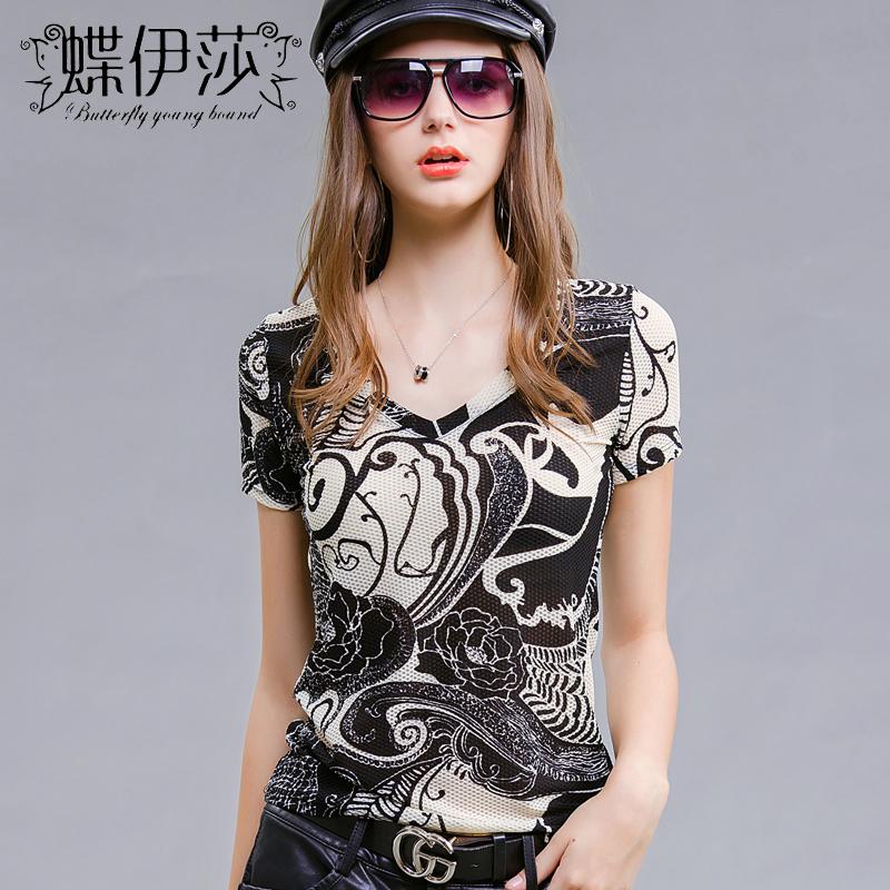 女士t恤欧洲站时尚潮流韩版女装气质2019新款欧货潮洋气夏装上衣
