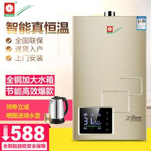 智能变频恒温燃气热水器电家用强排天然气液化气煤气12升即热洗澡价格