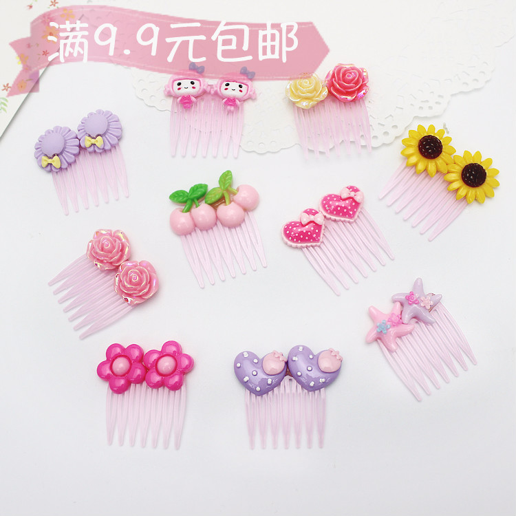 Korean children one year old baby baby baby Meng Meng Meng Meng da Po cute cartoon mini comb inserted comb