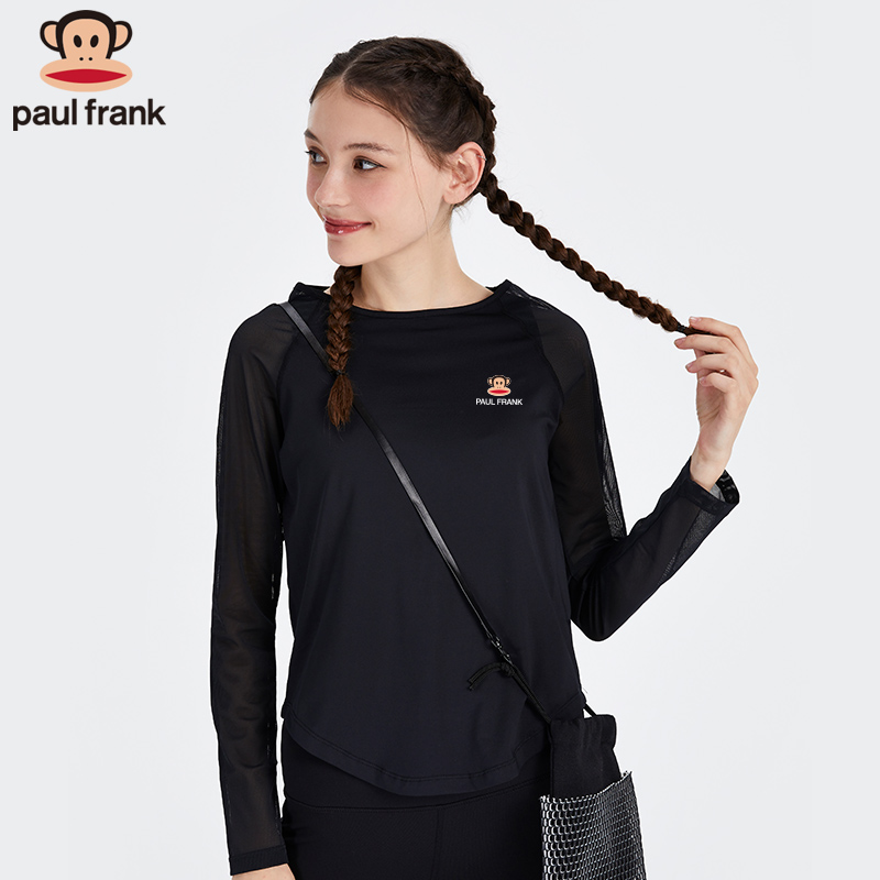 Paul Frank / macaque long sleeve sports T-shirt breathable Fitness Yoga running short sleeve smoothie quick dry