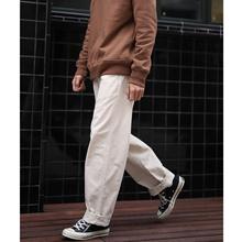 LH store 基础款复古水洗做旧纯色直筒工装裤休闲长裤-特惠款