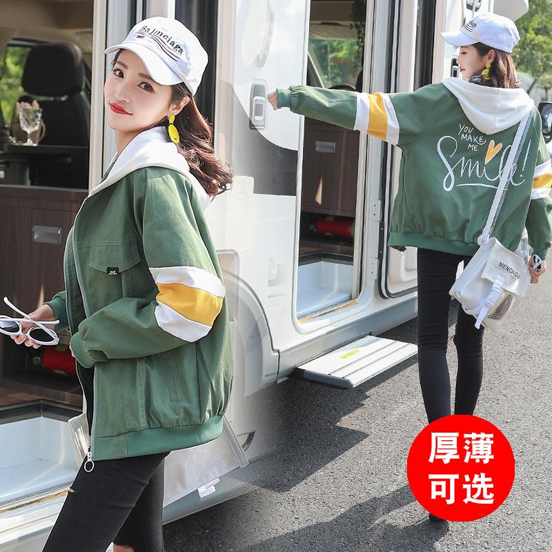 春秋冬装外套少女2018新款韩版大码宽松bf原宿风外衣中学生棒球服