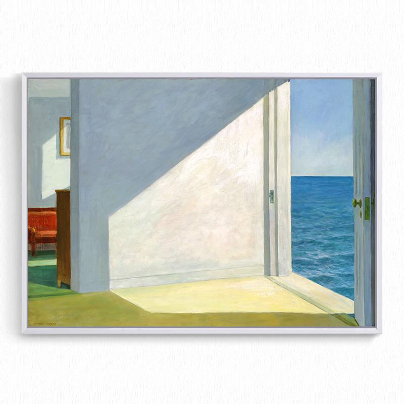 海边的房间 Hopper 爱德华霍普抽象寂静风景 旁白VoiceOver装饰画