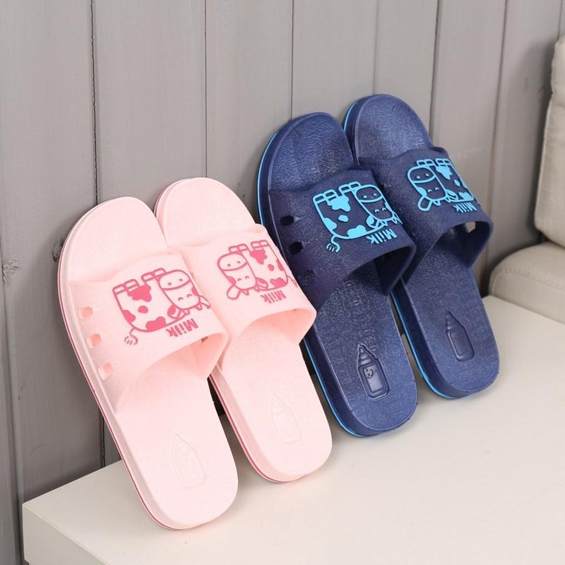 居家拖鞋男女情侣浴室家居室内防滑厚底塑料家用凉拖软底卧室托鞋
