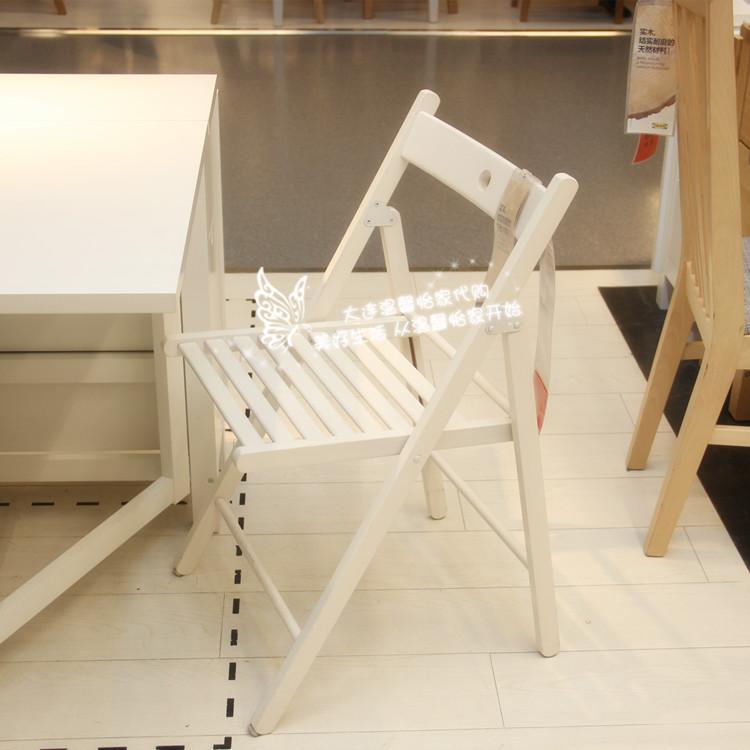 温馨宜家IKEA泰耶实木折叠椅躺椅餐椅纳凉椅实木椅子休闲椅