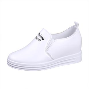 春秋款内增高2019新款休闲小白鞋