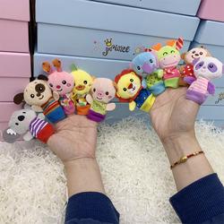 亲子互动动物指偶毛绒公仔手指玩偶动物手偶早教手套婴儿故事玩具