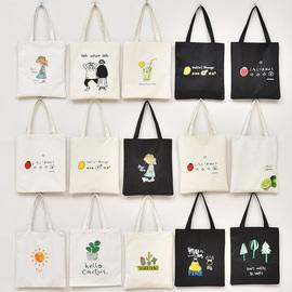 帆布包女斜挎日系ins包包学生单肩拎韩版大容量装书文艺手提袋子