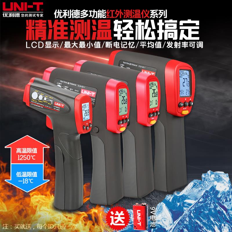 Infrared thermometer industrial high precision temperature measurement shooter with infrared thermometer electronic digital display