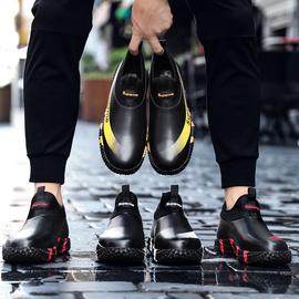 防水雨鞋男时尚钓鱼鞋洗车劳保工作鞋短筒胶鞋厨房防滑水靴雨靴男图片