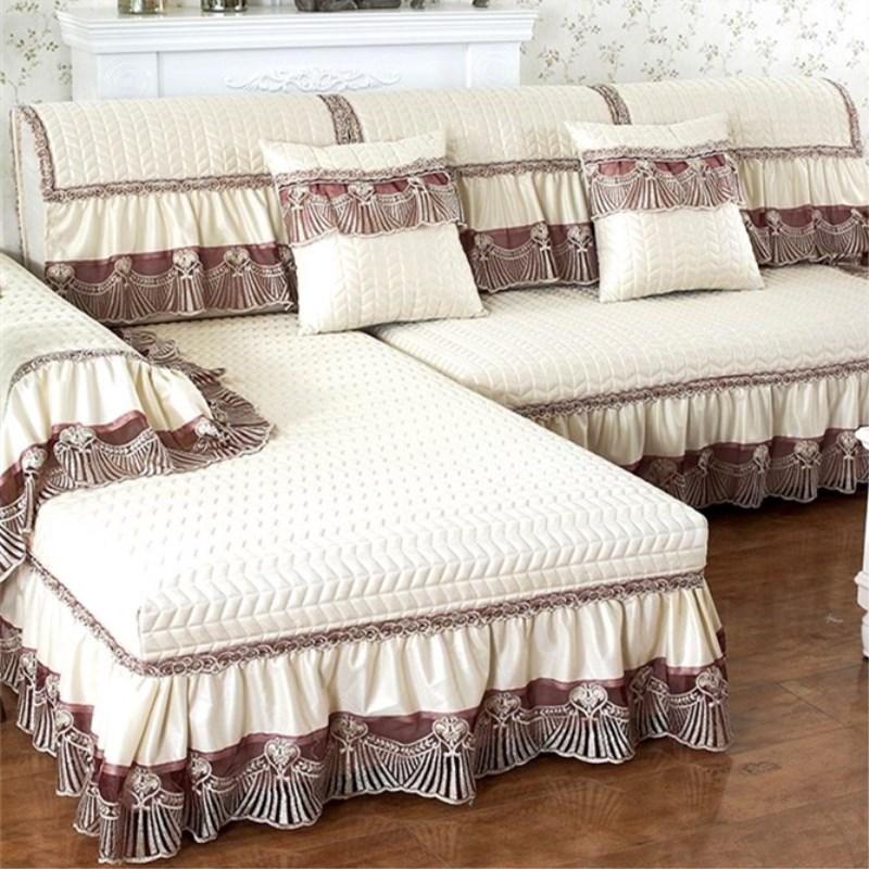 欧式高档沙发垫布艺防滑四季通用全盖萬能皮沙发套罩全包贵妃定做