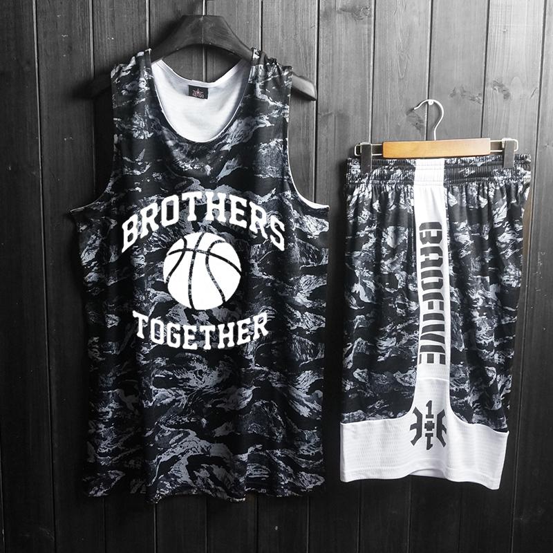 篮球服套装男街头个性夏季背心球衣限2000张券