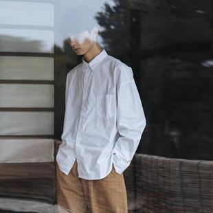 细斜秋季 长袖 衬衫 天丝棉 纯色日系宽松文艺男女工装 可乐生活原创