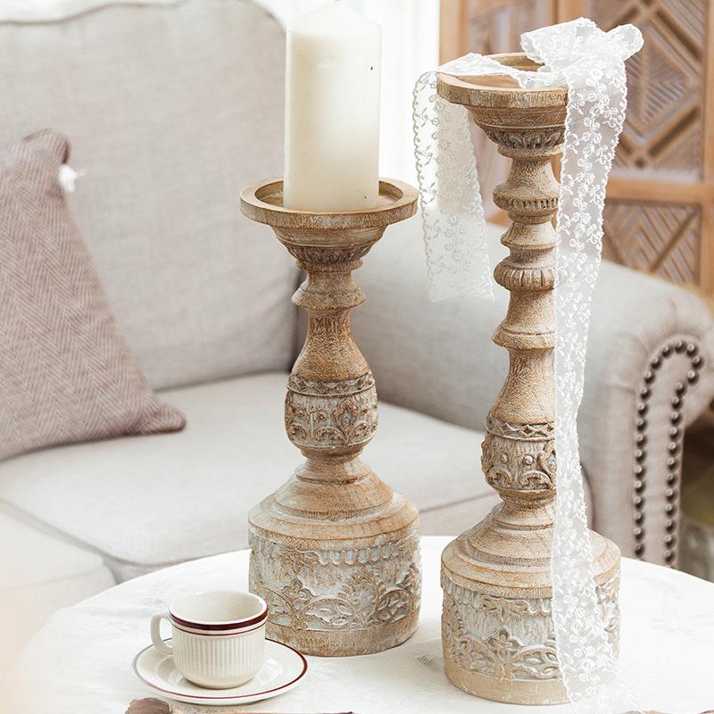 你可居复古蜡烛烛台摆件浪漫拍照背景道具摄影民宿家用轻奢北欧