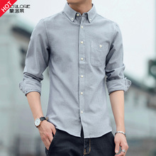 Fall 2019 New Men's Shirts Korean Edition of Slimming Fashion Leisure Men's Shirts Business Trend Top