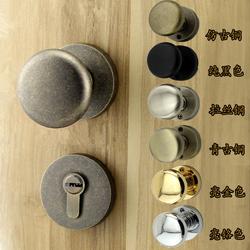 美式仿古铜分体球形锁金色室内房门锁简欧式青古铜静音圆把手球锁