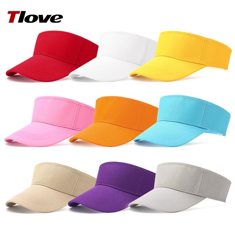 tlove定制男女士无顶工作帽棉空顶太阳帽遮阳帽子定做广告帽春夏