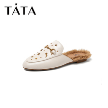Tata / He Her Fall 2019 Sheep Leather Metal Moeller Back Air Sandals FGW01CH9