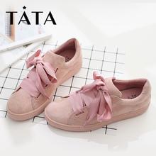 TATA/他她秋新款韩版学生街拍圆头平底女单鞋HDJ87CM7