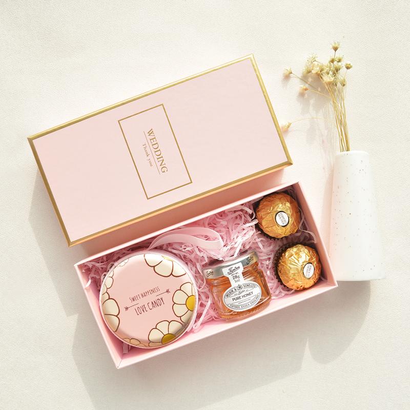 热销204件有赠品结婚喜糖礼盒装糖果盒婚礼伴手礼小礼品满月回礼伴娘女成品含糖