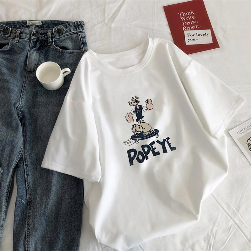 韩版大码女装夏季短袖t恤2020年胖mm宽松新款白色半袖ins上衣服潮